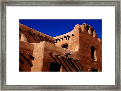 Framed Print featuring the photograph Santa Fe Adobe by Kathleen Stephens