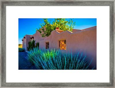 Santa Fe Adobe Framed Print
