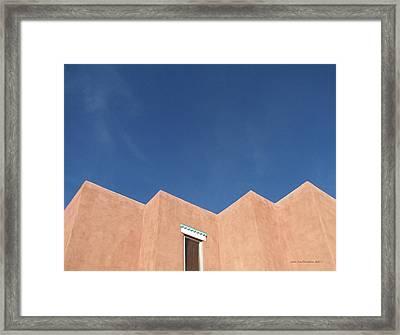 Santa Fe Angles, Blue Sky Framed Print