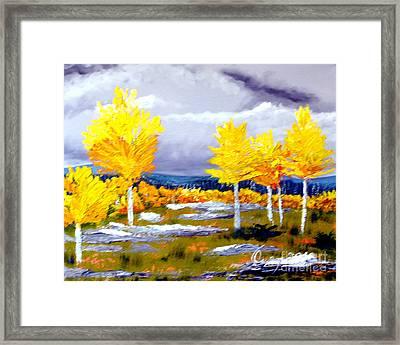 Santa Fe Aspens Series 2 Of 8 Framed Print