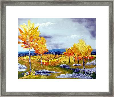 Santa Fe Aspens Series 6 Of 8 Framed Print