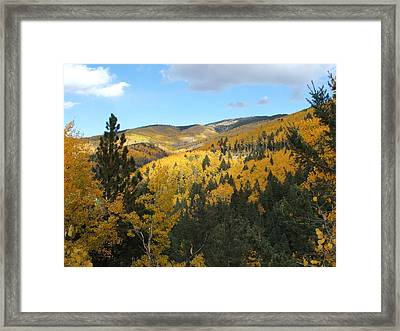 Santa Fe Autumn View Framed Print