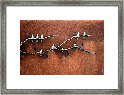 Framed Print featuring the photograph Santa Fe Birds by Kenneth Campbell