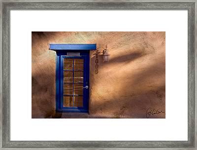 Santa Fe Blue Framed Print