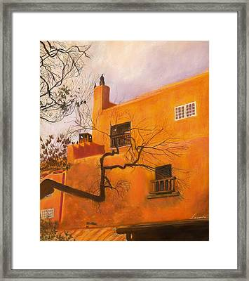 Santa Fe Building Framed Print by Leonor Thornton