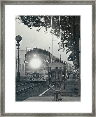 Santa Fe Combined El Capitan And Super Chief At Pasadena California Station Framed Print