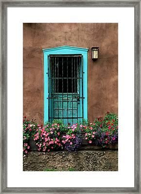 Santa Fe Door #1 Framed Print