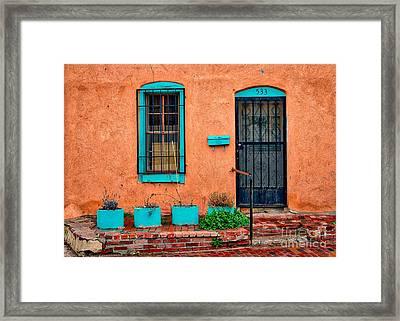 Santa Fe Door 533 Framed Print by Jerry Fornarotto