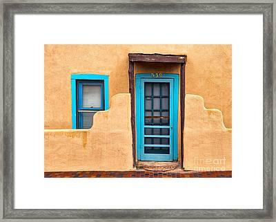 Santa Fe Door 539 Framed Print by Jerry Fornarotto
