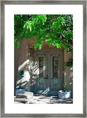 Santa Fe Door Framed Print by David Patterson