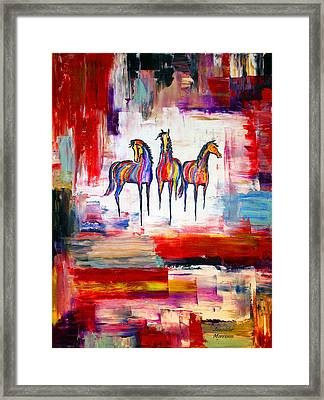 Santa Fe Dreams Horses Framed Print