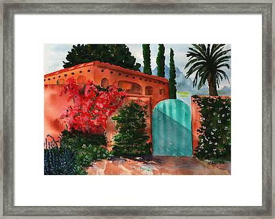Santa Fe Dwelling Framed Print by Sharon Mick