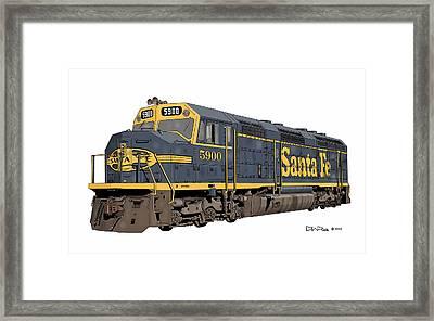 Santa Fe F45 #5900 Framed Print