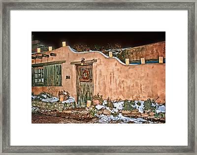 Santa Fe Farolitos Framed Print by Gabriele Pomykaj