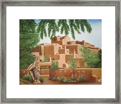 Santa Fe Garden Framed Print