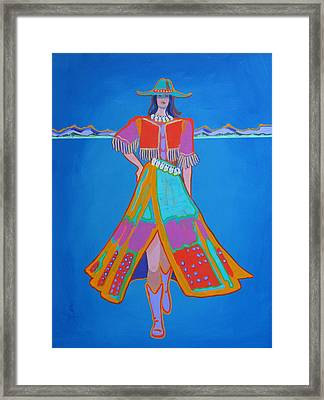 Santa Fe Girl  Framed Print