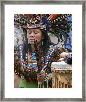 Santa Fe - La Shamana Framed Print by Allen Sheffield