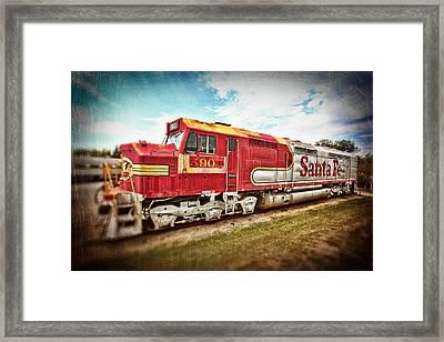 Santa Fe Locomotive Framed Print by Charrie Shockey