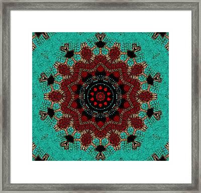 Santa Fe Mandala Framed Print