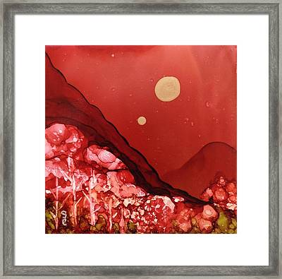 Santa Fe Moonrise Framed Print by Suzanne Canner