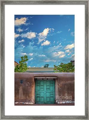 Santa Fe Morning Skies Framed Print