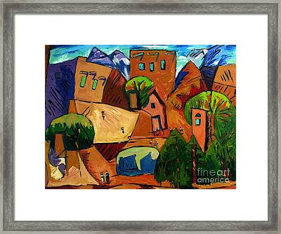 Santa Fe On My Mind Framed Print