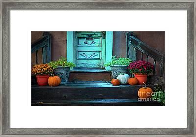 Santa Fe Pumpkins Framed Print