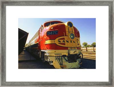 Santa Fe Railroad Framed Print by Art America Gallery Peter Potter