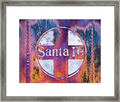 Framed Print featuring the photograph Santa Fe Rr by Lou Novick