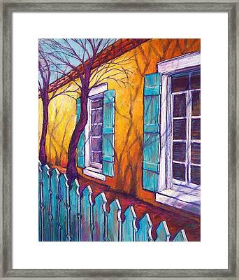 Santa Fe Shutters Framed Print by Candy Mayer