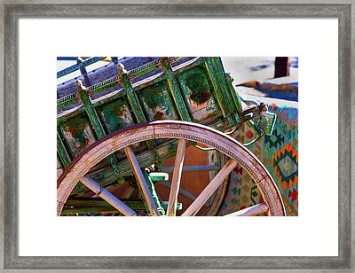 Framed Print featuring the photograph Santa Fe Spokes by Stephen Anderson
