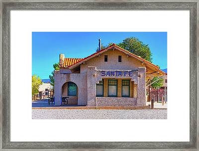 Framed Print featuring the photograph Santa Fe Station by Stephen Anderson