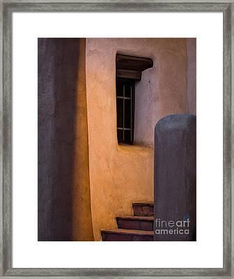 Santa Fe Steps Framed Print