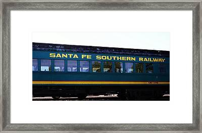 Santa Fe Train Framed Print by Joseph Frank Baraba