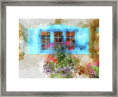 Santa Fe Window 2 Framed Print