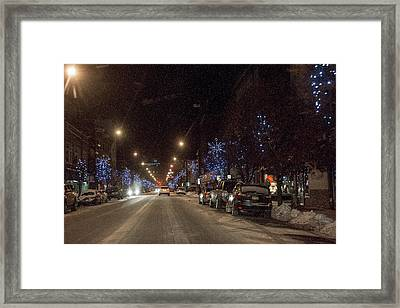 Framed Print featuring the photograph Santa Visits Bradford by Wade Aiken