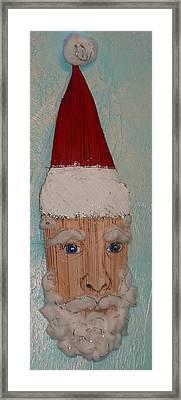 Santa Frons Framed Print