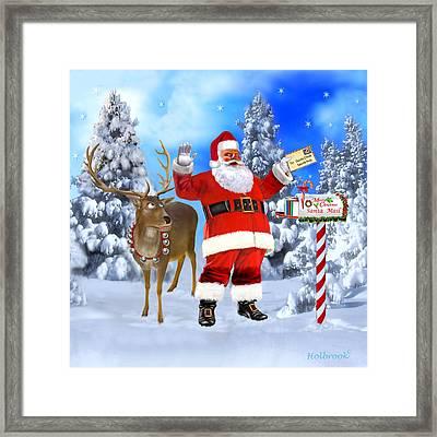 Santa Got Your Letter Framed Print