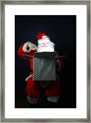 Santa Has Christmas Magic For All Framed Print by Michael Ledray