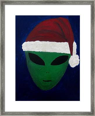 Santa Hat Framed Print by Lola Connelly