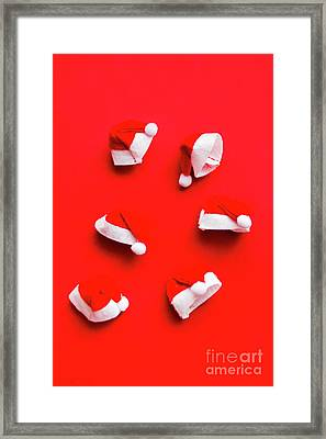 Santa Hat Party Framed Print by Jorgo Photography - Wall Art Gallery