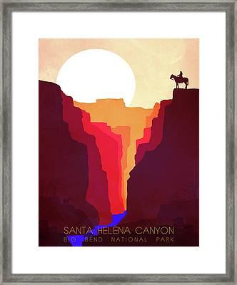 Santa Helena Canyon 1  Framed Print