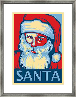 Santa Hope Framed Print by David Kyte