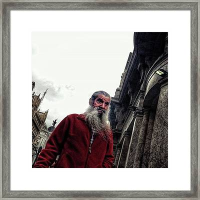 Santa Is Coming To Town 🎶 #santa Framed Print