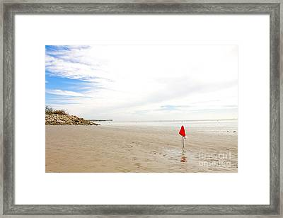 Framed Print featuring the photograph Santa Is Missing by Sandy Adams