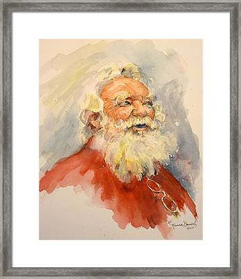 Santa Is That You Framed Print by P Maure Bausch