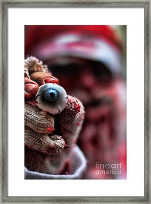 Santa Is Watching You Framed Print by Jasna Buncic