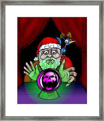 Santa Knows Framed Print by Christopher Capozzi