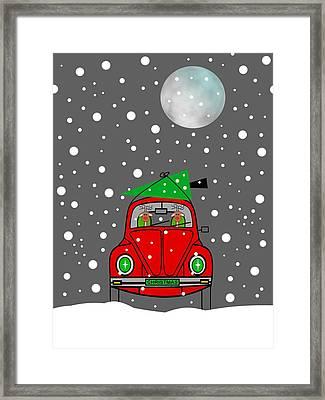 Santa Lane Framed Print