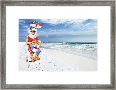 Santa Lifeguard Framed Print
